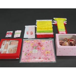七五三 着物 7歳 着物フルセット ピンク色地着物 牡丹菊 ピンク帯セット 足袋に腰紐など20点フルセット doresukimono-kyoubi 08
