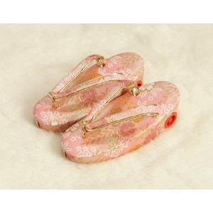 七五三 草履単品 3歳用 ピンク色 友禅柄文様 かかと鈴使い 小サイズ 日本製 doresukimono-kyoubi 02