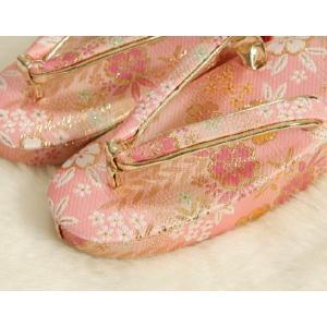 七五三 草履単品 3歳用 ピンク色 友禅柄文様 かかと鈴使い 小サイズ 日本製 doresukimono-kyoubi 03
