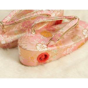 七五三 草履単品 3歳用 ピンク色 友禅柄文様 かかと鈴使い 小サイズ 日本製 doresukimono-kyoubi 04