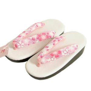 七五三 草履単品 3〜5歳用 ピンク 牡丹菊 中サイズ 箱なし アウトレット品|doresukimono-kyoubi