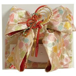 七五三着物用祝い帯 7歳用 ベージュピンク 桜有職文様 飾り紐付き 大サイズ 日本製|doresukimono-kyoubi