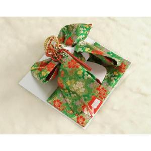 七五三着物用祝い帯 7歳用 緑 桜流水柄 飾り紐付き 大サイズ 日本製|doresukimono-kyoubi|02