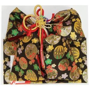 七五三着物用祝い帯 7歳用 黒 まり 桜 飾り紐付き 大サイズ 日本製|doresukimono-kyoubi