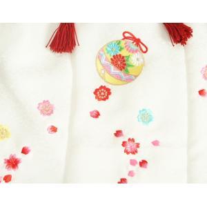 七五三 3歳から5歳用 正絹被布草履きんちゃくセット 草履ピンク 被布白地 足袋付きセット 日本製|doresukimono-kyoubi|03