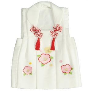 七五三 被布 着物 3歳 白 光琳椿刺繍使い 七五三 ひな祭り お正月|doresukimono-kyoubi