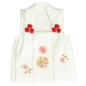 七五三 被布 着物 3歳 京都花ひめ 白 まり桜刺繍使い 七五三 ひな祭り お正月|doresukimono-kyoubi