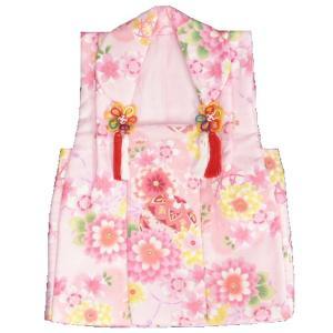 被布 着物 三歳 ピンク 牡丹菊 七五三 ひな祭り お正月 桜地紋生地|doresukimono-kyoubi