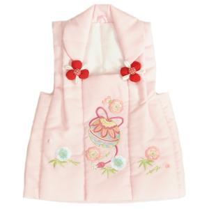 七五三 被布 着物 3歳 京都花ひめ ピンク 鈴桜刺繍使い 七五三 ひな祭り お正月|doresukimono-kyoubi