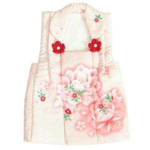 被布 着物 3歳 マユミブランド 淡いピンク色 濃淡ピンクボカシ 刺繍使い 七五三 ひな祭り お正月