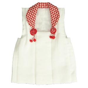 被布 着物 七五三 3歳 白色地 衿赤小桜柄 ひな祭り お正月 日本製|doresukimono-kyoubi