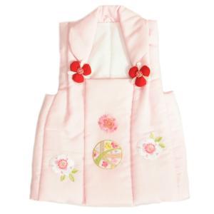 七五三 被布 着物 3歳 京都花ひめ ピンク まり桜刺繍使い 七五三 ひな祭り お正月|doresukimono-kyoubi