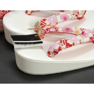 七五三 3歳から5歳用 草履バッグセット 赤 桜柄 日本製|doresukimono-kyoubi|03