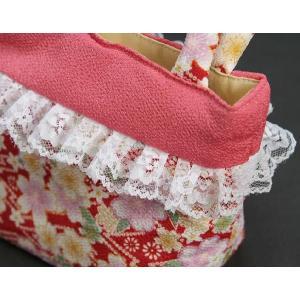 七五三 3歳から5歳用 草履バッグセット 赤 桜柄 日本製|doresukimono-kyoubi|05