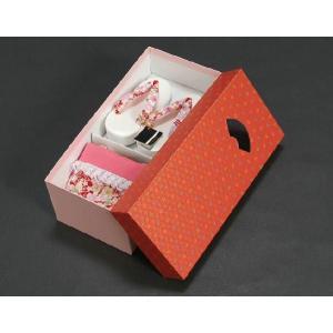 七五三 3歳から5歳用 草履バッグセット 赤 桜柄 日本製|doresukimono-kyoubi|06