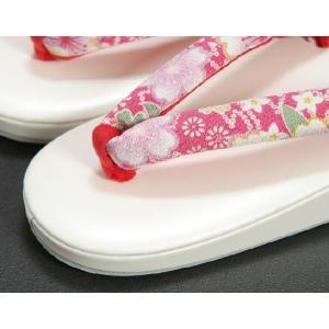 七五三 3歳から5歳用 草履バッグセット ピンク 桜柄 日本製|doresukimono-kyoubi|02