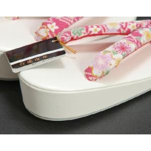 七五三 3歳から5歳用 草履バッグセット ピンク 桜柄 日本製|doresukimono-kyoubi|03