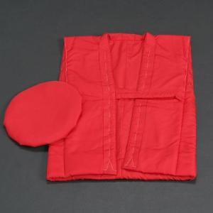 長寿祝着 還暦 ちゃんちゃんこと大黒帽の2点セット 赤色|doresukimono-kyoubi