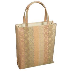 金襴バッグ 和洋兼用 礼装及びカジュアルスタイルのサブバッグ 縦型 縦紋文様 手提げタイプ 日本製|doresukimono-kyoubi