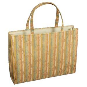金襴バッグ 和洋兼用 礼装及びカジュアルスタイルのサブバッグ 横型 手提げタイプ 雲梅文様 日本製|doresukimono-kyoubi