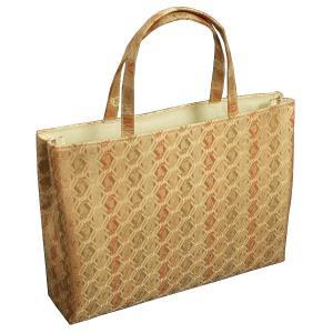 金襴バッグ 和洋兼用 礼装及びカジュアルスタイルのサブバッグ 横型 手提げタイプ 有職紋柄 日本製|doresukimono-kyoubi