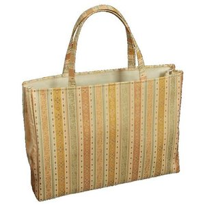 金襴バッグ 和洋兼用 礼装及びカジュアルスタイルのサブバッグ 横型 手提げタイプ 正倉院柄 日本製|doresukimono-kyoubi