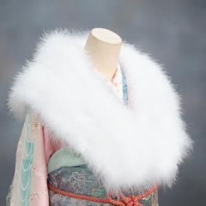 ショール 羽毛ストール 片面 振袖 成人式 卒業式 結婚式|doresukimono-kyoubi