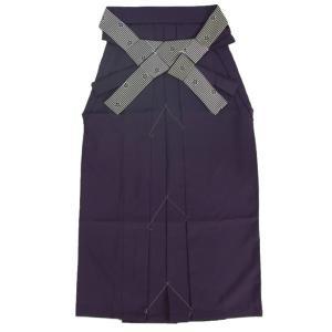 卒業袴 卒業式 濃い目の紫色 へら付き 紐リバーシブル 縞柄捻り梅 特価品 SS、S、M、L、LL|doresukimono-kyoubi