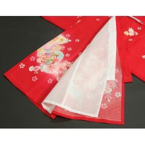 お宮参り 着物 夏用 女の子 正絹 赤色ピンク流水ぼかし まり 風車 絽生地 doresukimono-kyoubi 07