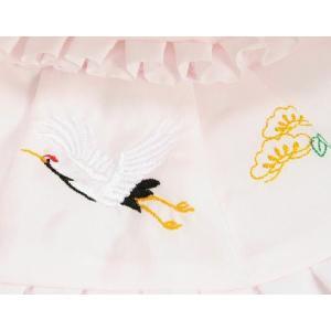 お宮参り着物用 正絹生地 涎掛け帽子セット フードタイプ ピンク お宮参り5点セット 女の子向き 日本製|doresukimono-kyoubi|02