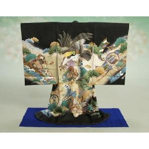 お宮参り着物専用飾り台 プラスチック製撞木(しゅもく) 男の子に最適な青毛氈付き組み立てタイプ 日本製|doresukimono-kyoubi|02
