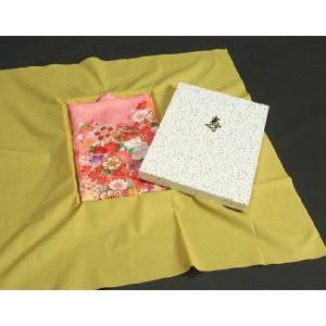 お宮参り着物の御包みに最適 黄はだ染め敷き 綿100%|doresukimono-kyoubi|04