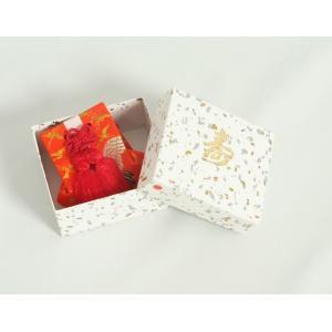 お宮参り小物 お守り袋 赤色 化粧箱付 女の子に最適 日本製|doresukimono-kyoubi|03