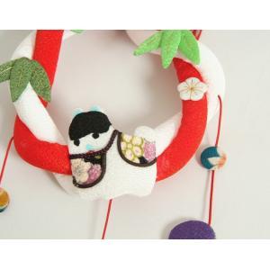 お宮参り ちりめん吊るし飾り 飾り台付き 男の子向き 日本製 doresukimono-kyoubi 03