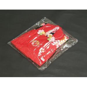 ベビー着物 赤ちゃん用女の子着物 白黒濃ピンク三色ボカシ着物 赤色被布 二部式仕様の楽々着せ付けタイプ|doresukimono-kyoubi|08