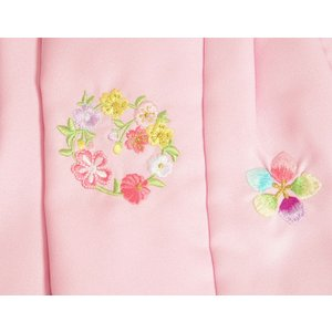 ベビー着物 赤ちゃん 女の子着物 白色 八重桜 赤色被布 二部式仕様の楽々着せ付けタイプ|doresukimono-kyoubi|04
