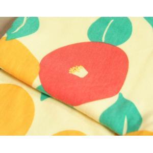 ベビー ロンパース 袴スタイル 光琳椿 黄色×濃ピンク色 カバーオール 初節句 60 70 80 90|doresukimono-kyoubi|05