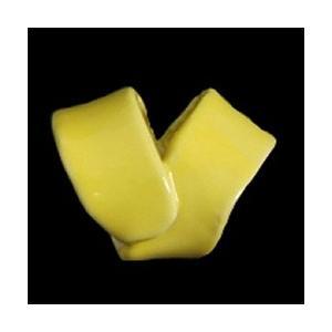 瀬戸赤津焼帯留め飾り 瀬戸物帯留シリーズ 陶器 黄色 日本製 通常の帯〆でも使用可能な幅広通し使用