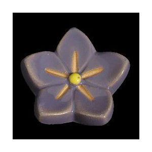 瀬戸赤津焼帯留め飾り 華畑シリーズ 瀬戸物 陶器 ききょう 紫 日本製 通常の帯〆でも使用可能な幅広金具使用|doresukimono-kyoubi