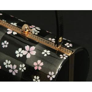 草履バッグセット 振袖 訪問着 黒銀市松 小桜柄 一枚芯 フリーサイズ 丸筒型バッグ 日本製|doresukimono-kyoubi|05