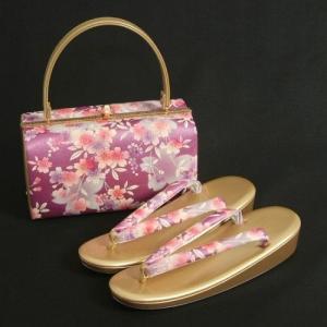 草履バックセット 振袖 訪問着 エンジシルバー 大小桜柄 フリーサイズ 日本製|doresukimono-kyoubi