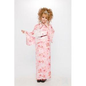 浴衣 さくりな・桜井莉菜プロデュース オリジナル浴衣・帯・下駄の3点セット ベビーピンク