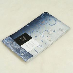 浴衣帯 紺色 柄タイプ 大小桜柄 単(ひとえ)帯 袴下帯 日本製|doresukimono-kyoubi