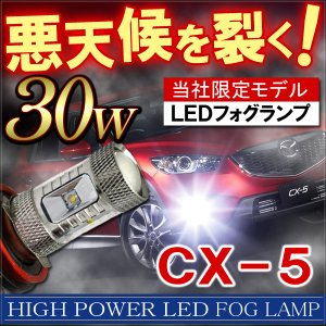 CX5 CX-5 LED フォグランプ H11 30W CREE製 OSRAM製