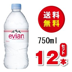送料無料!伊藤園 evian (エビアン) 750ml 硬水 12本入り 1ケース 賞味期限2023年2月|dorinkuya2