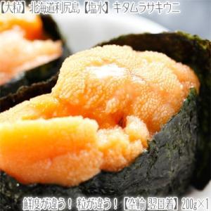 (送料無料 塩水ウニ)利尻島産 生キタムラサキウニ 200g×1(大粒プレミアム 獲れたて 濃厚 うに 北海道 空輸 航空便 翌日着)|dosanko-factory