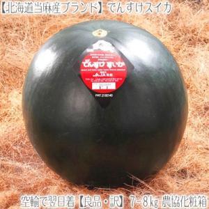 でんすけすいか 北海道産(良品)大玉 8kg前後(北海道 当...