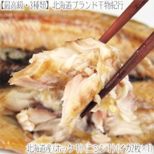 (送料無料)北海道産干物セット 全3種類(利尻島産ホッケ 日本海産ニシン 北海道産干しイカ 最高級 中卸の目利き 母の日 父の日)|dosanko-factory