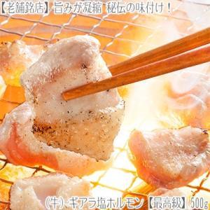 (ギアラ 牛ホルモン 塩)白ギアラ(生・味付き)500g 【2個で1個、3個で2個 オマケ】BBQ 業務用 北海道