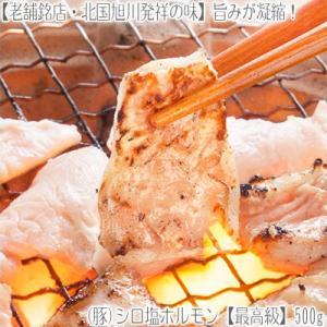(豚 シロ 塩ホルモン)上ホルモン(生・味付き)500g 【2個で1個、3個で2個 オマケ】BBQ 業務用 もつ鍋 北海道